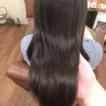 広がる髪にストレートリペアメント。まとまりやすくなった髪のその後…熊谷市の髪質改善美容ハルト