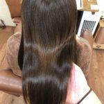 カラーで栄養補給。よくあるお悩みの縮毛で傷んだ髪もポワポワした癖もまとまりのよい艶髪へ♪熊谷市の髪質改善美容室ハルト