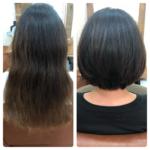 クセが強く量も多くダメージも気になるK様。綺麗な扱いやすいヘアスタイルにしていきます^ ^熊谷市の髪質改善美容室ハルト