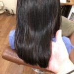 縮毛で傷んでしまった事のあるお客様。マル秘メニューで動きのある自然な縮毛矯正をします。熊谷市の髪質改善美容室ハルト