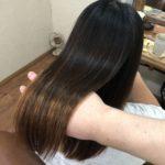 毛先ブリーチでダメージ差のある髪でも安心してかけれる縮毛矯正。柔らかくまとまる艶髪へ♪熊谷市の髪質改善美容室ハルト