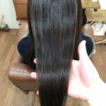 剛毛、多毛、癖強でドカスキされてしまったお客様…傷まない縮毛矯正で自然でまとまる柔らかストレートに♪熊谷市の髪質改善美容室ハルト