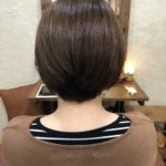 自然にまとまる縮毛矯正。癖毛の方も丸みのあるツヤツヤショートボブに♪熊谷市の髪質改善美容室ハルト
