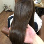 クセで膨らむ髪質のHさん。傷まない縮毛で丸みのあるツヤ髪に♪熊谷市の髪質改善美容室ハルト